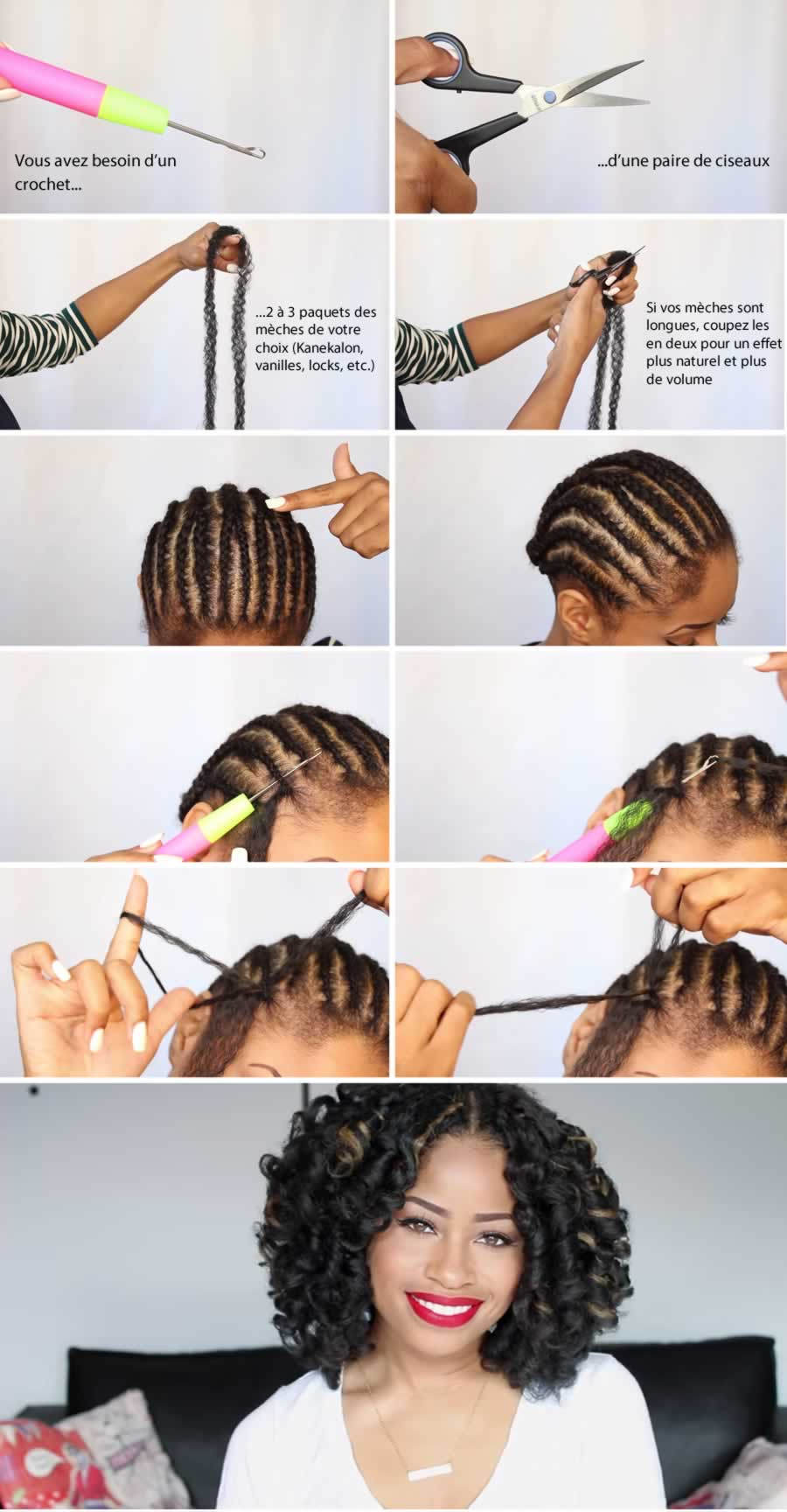 Le crochet braids for Coupe de cheveux avec des locks